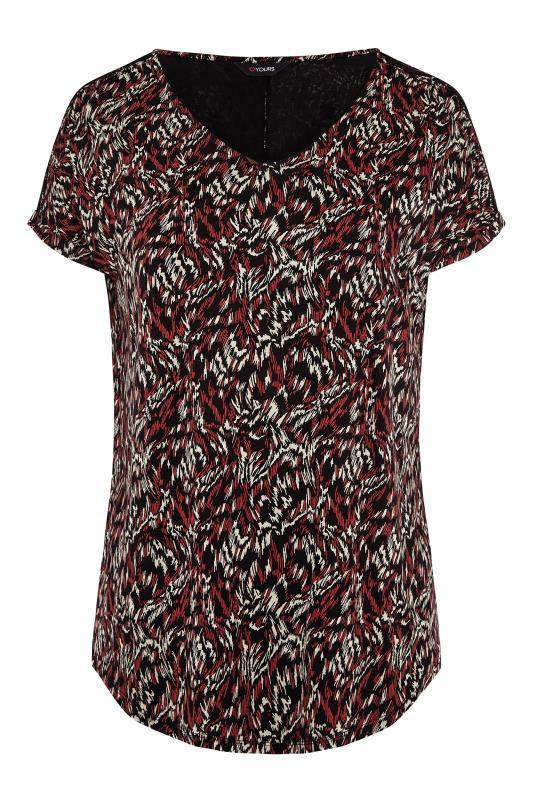 Black Abstract Shoulder Detail T-Shirt_F.jpg