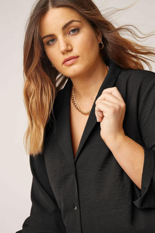 THE LIMITED EDIT Black Open Collar Blouse_D.jpg