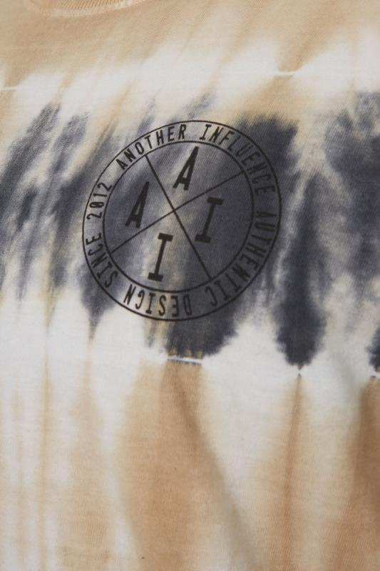 ANOTHER INFLUENCE Charcoal Long Sleeve Tie Dye T-Shirt_S.jpg