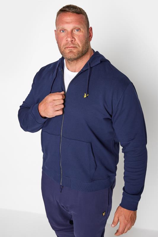 Großen Größen  LYLE & SCOTT Navy Zip Through Hoodie