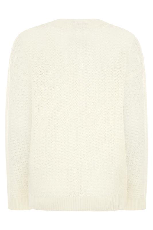 Cream Stitch Knitted Cardigan