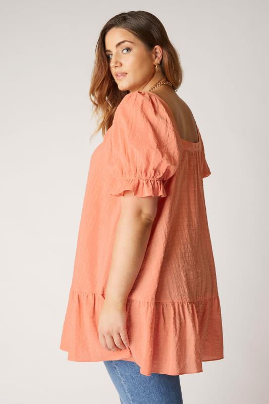 THE LIMITED EDIT Coral Puff Sleeve Tunic_C.jpg