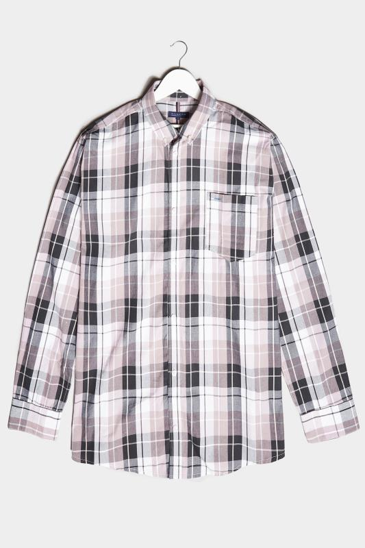 Men's  BadRhino Pink & Navy Cotton Check Shirt