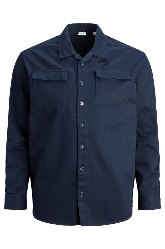 Men's Casual / Every Day JACK & JONES Navy Utility Overshirt