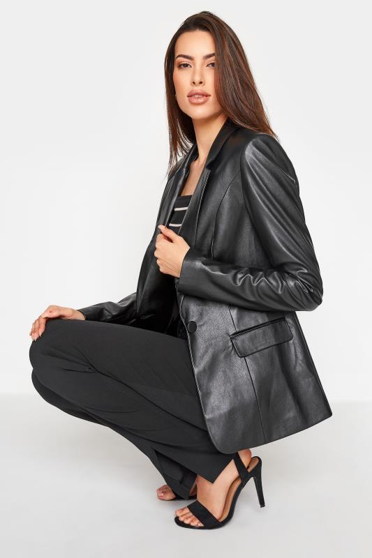 LTS Black Faux Leather Blazer_D.jpg
