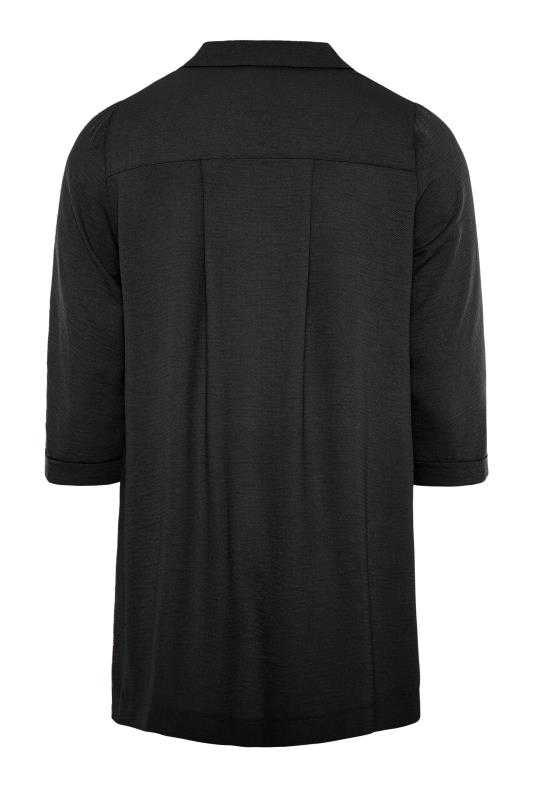 THE LIMITED EDIT Black Open Collar Blouse_BK.jpg