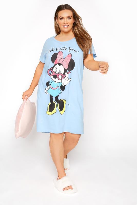 DISNEY Light Blue Hello Minnie Nightdress