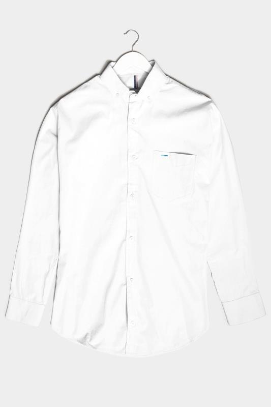 BadRhino White Essential Long Sleeve Oxford Shirt