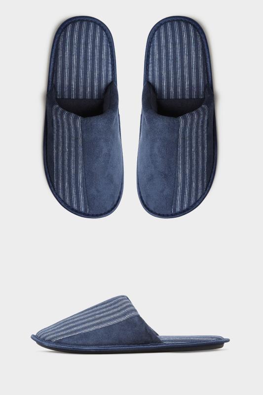 Men's  BadRhino Navy Stripe Mule Slippers