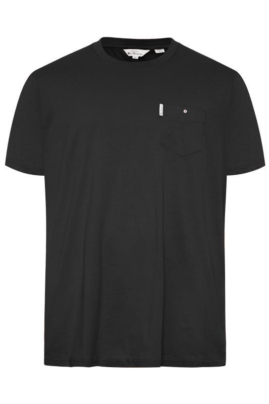 Großen Größen  BEN SHERMAN Black Pocket T-Shirt