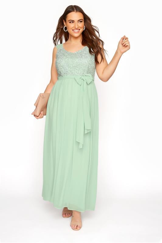 Mint Sleeveless Crochet Overlay Maxi Dress_B.jpg