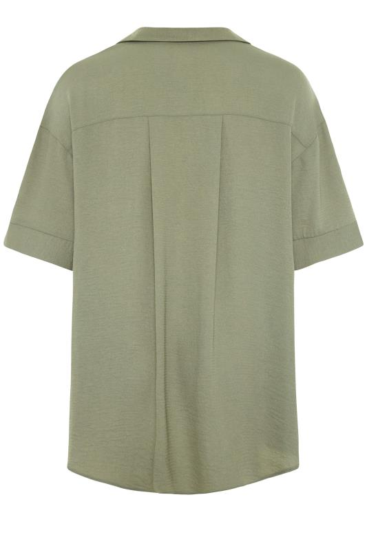 THE LIMITED EDIT Olive Green Pleated Front Top_BK.jpg