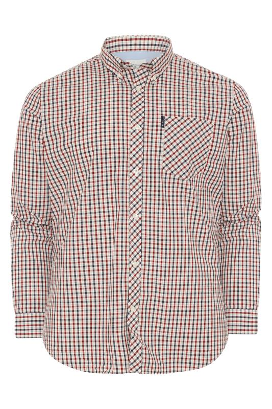 Großen Größen  BEN SHERMAN Red Check Signature Long Sleeve Oxford Shirt