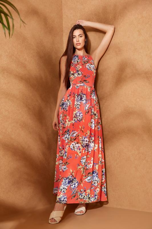 LTS Coral Floral Halter Neck Maxi Dress_L.jpg