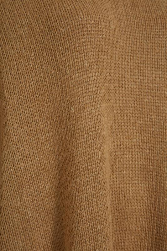 Camel Drop Sleeve Knitted Jumper Dress_D.jpg