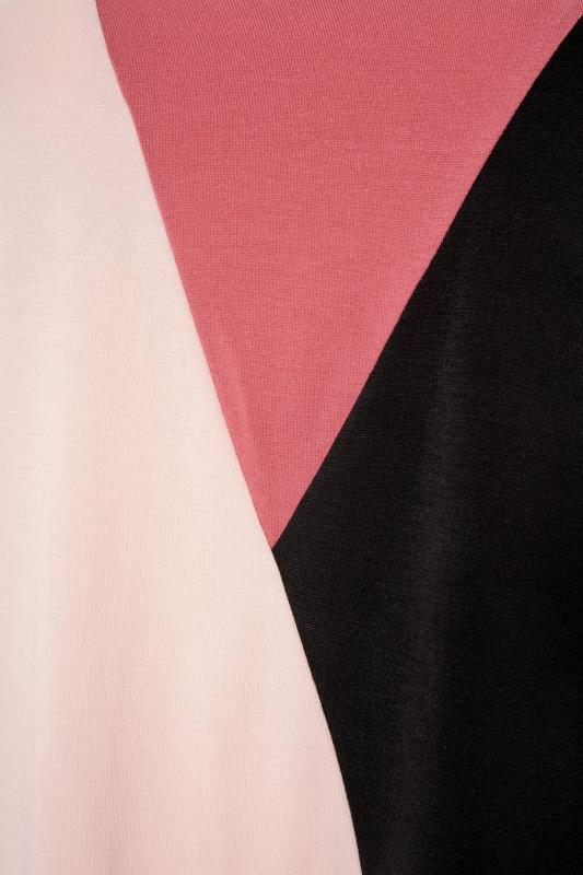 LIMITED COLLECTION Pink Colour Block T-Shirt_S.jpg