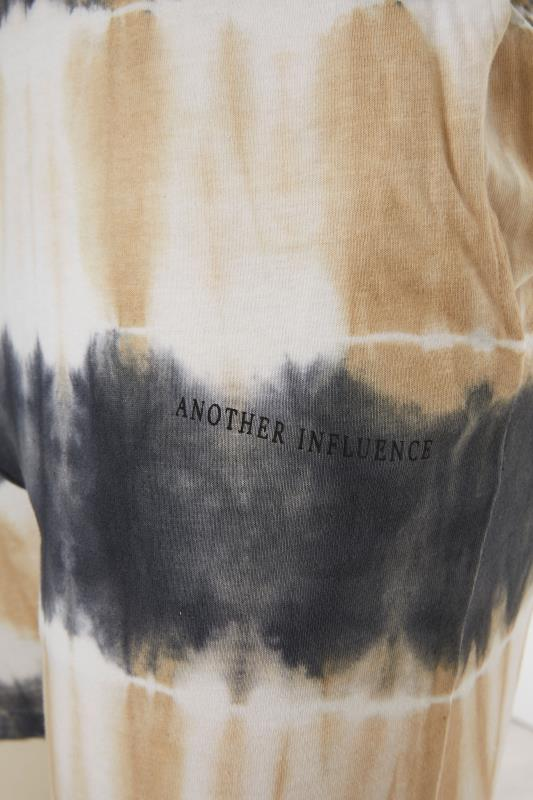 ANOTHER INFLUENCE Charcoal Tie Dye Jogger Shorts_S.jpg