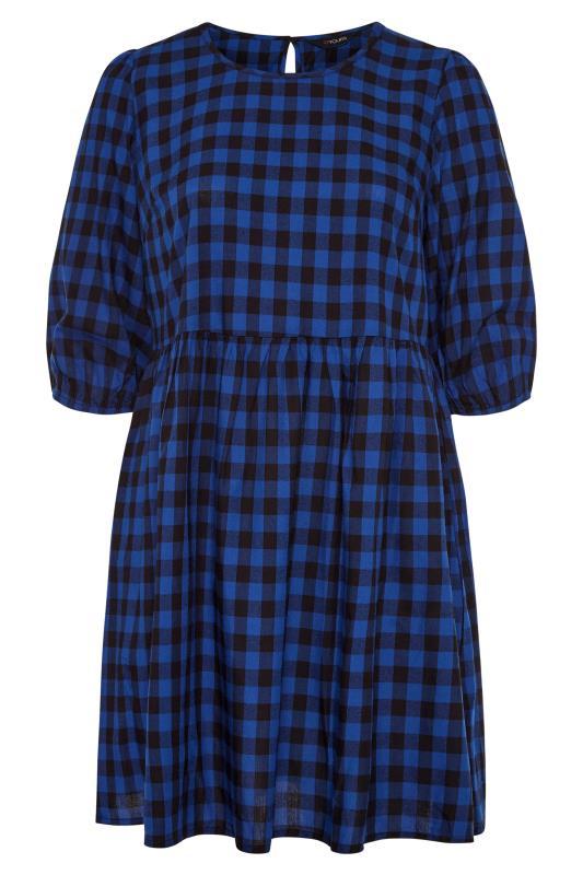 Cobalt Blue Gingham Peplum Dress_F.jpg
