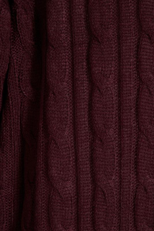 Berry Cable Knitted Maxi Cardigan_S.jpg