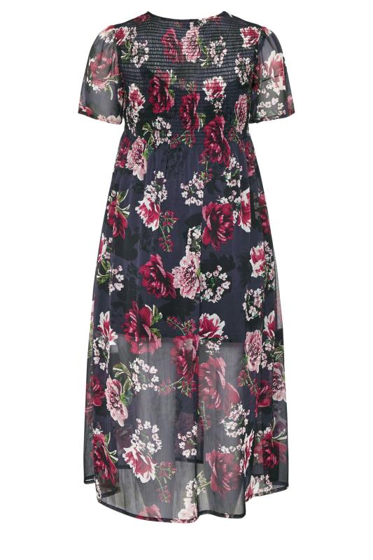 LIMITED COLLECTION Black Floral Shirred Maxi Dress_bk.jpg