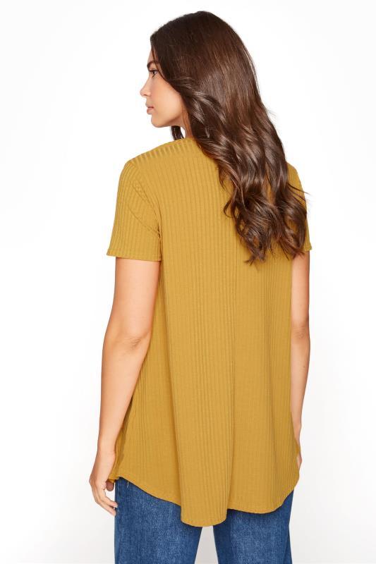 LTS Mustard Yellow Swing Ribbed T-Shirt_C.jpg