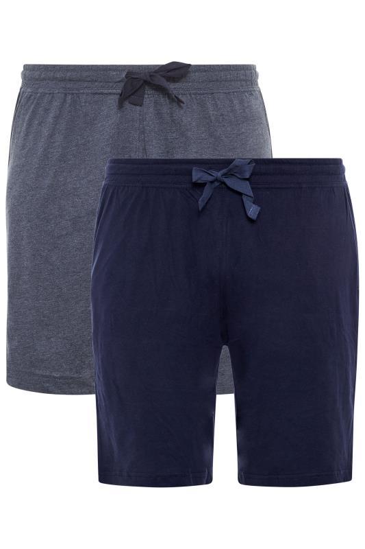 Men's  D555 2 PACK Navy Jogger Shorts