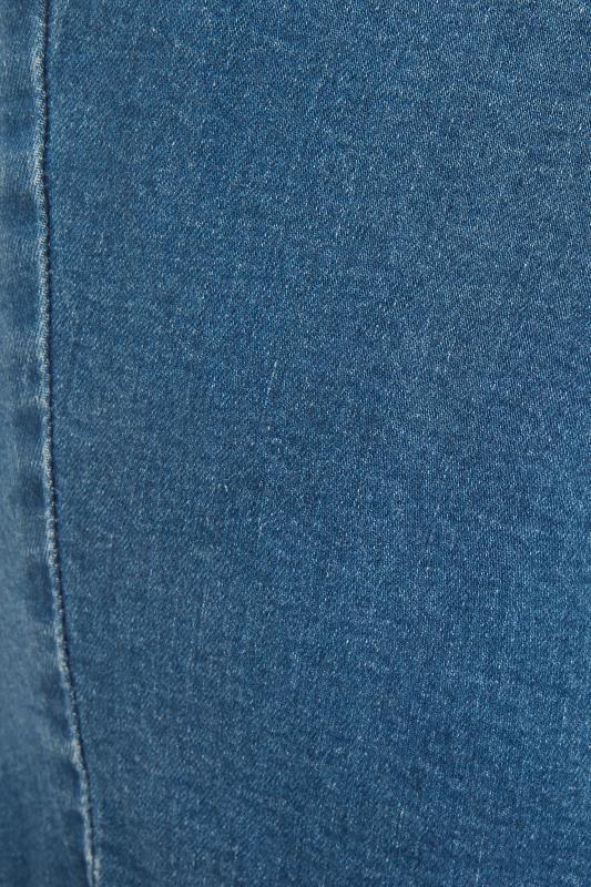 Mid Blue Ripped Denim Mom Shorts_S.jpg