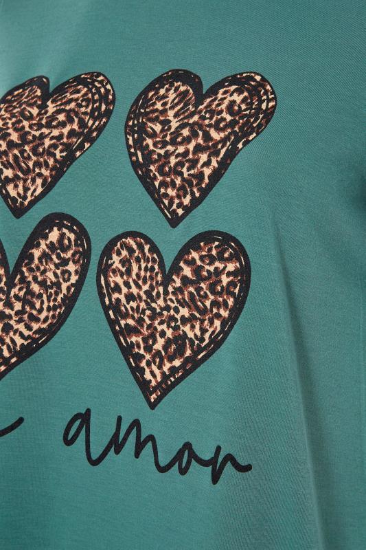 LIMITED COLLECTION Sage 'Mi Amor' Slogan Printed T-Shirt_S.jpg