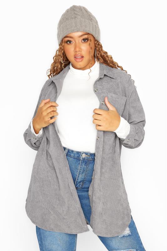 Grey Cord Longline Shirt