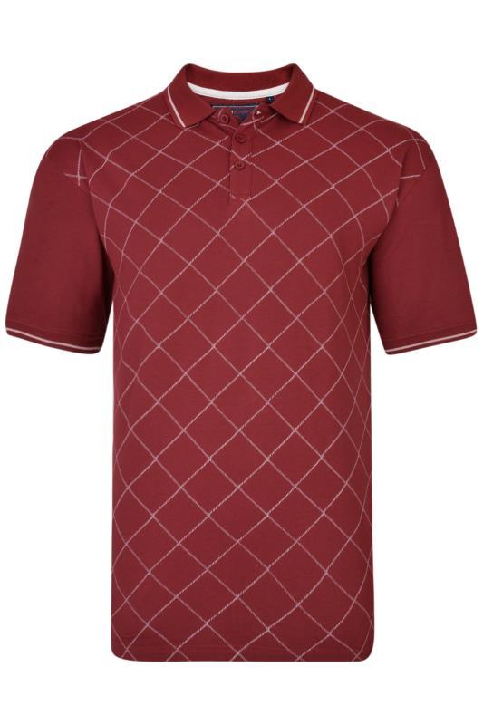 KAM Red Diamond Pique Polo Shirt