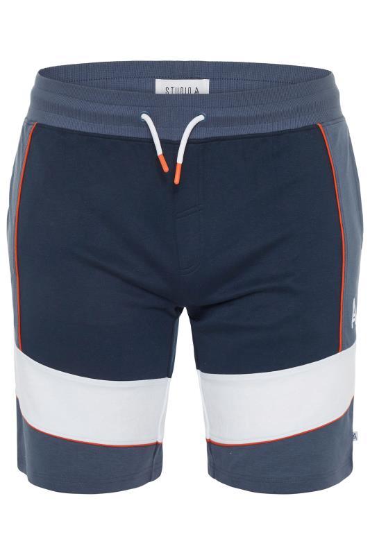 Plus Size  STUDIO A Navy/Orange Jogger Shorts