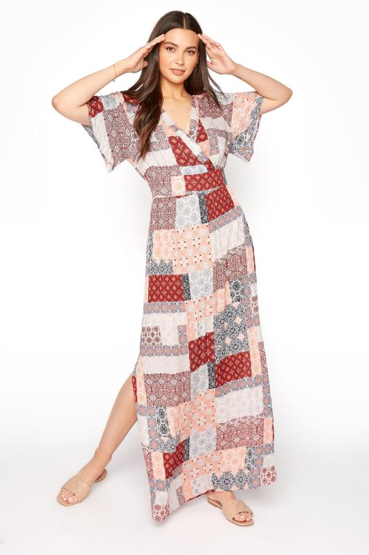 LTS Multi Patchwork Boho Maxi Dress