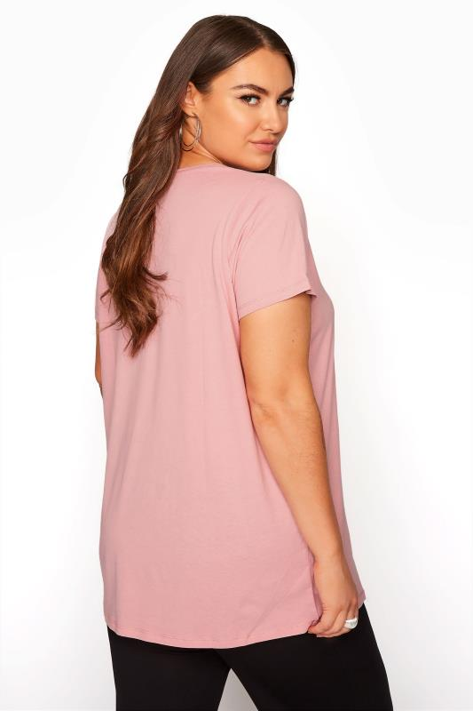 Pink Button Scoop Neck Pyjama Top_C.jpg