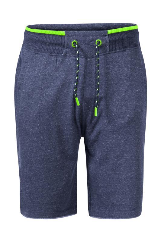 D555 Blue Ribbed Waist Fleece Shorts