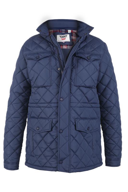 Plus Size  D555 Blue Quilted Pocket Jacket