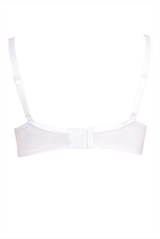 White Non-Wired Cotton Bra With Lace Trim - Best Seller
