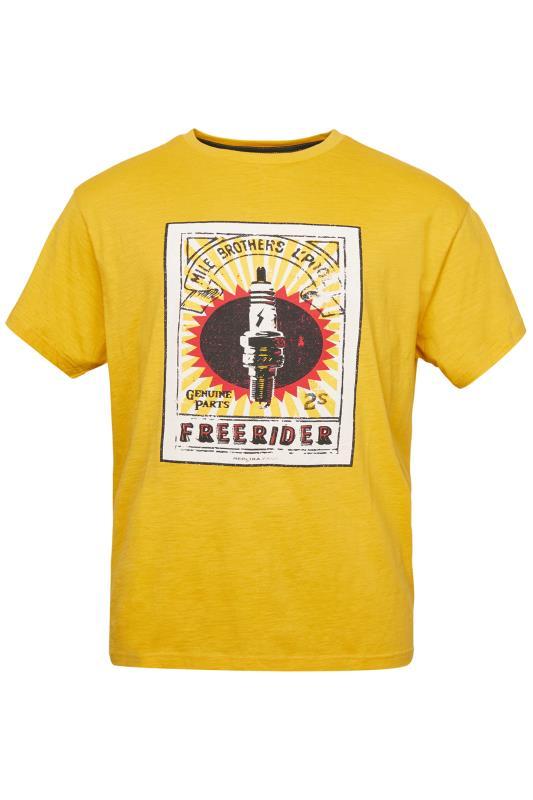 Plus Size  REPLIKA Yellow Print T-Shirt
