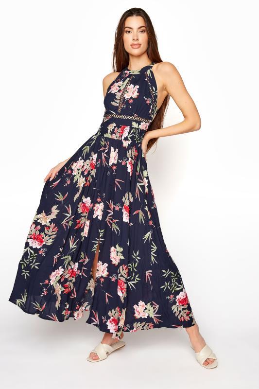 LTS Navy Floral Halter Neck Midaxi Dress_A.jpg