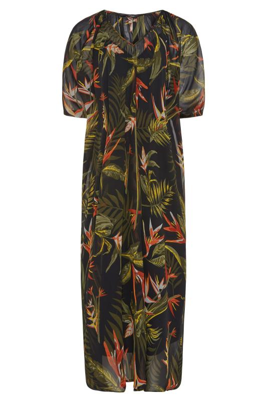 LIMITED COLLECTION Black Tropical Print Dress_F.jpg