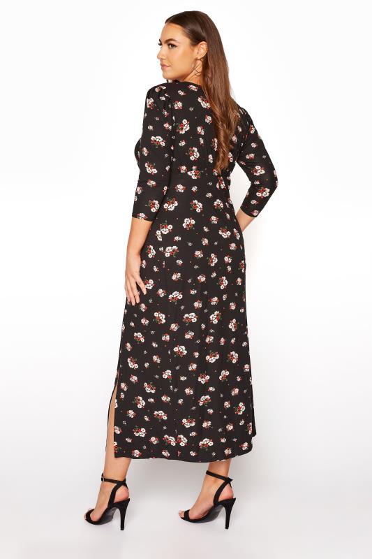 YOURS LONDON Black Floral Side Split Midaxi Dress_C.jpg