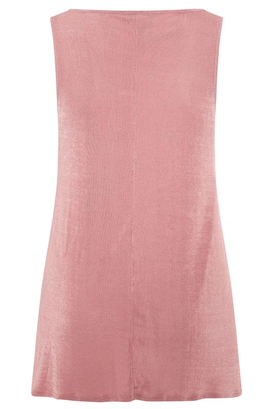 YOURS LONDON Dusky Pink Slinky Co-ord Vest Top
