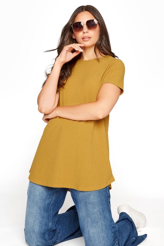 LTS Mustard Yellow Swing Ribbed T-Shirt_A.jpg