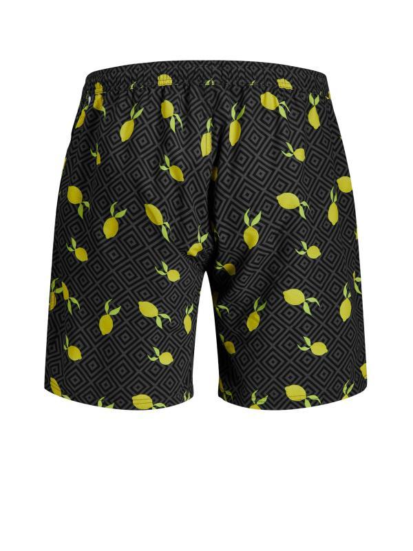 JACK & JONES Black Lemon Bali Swimshorts