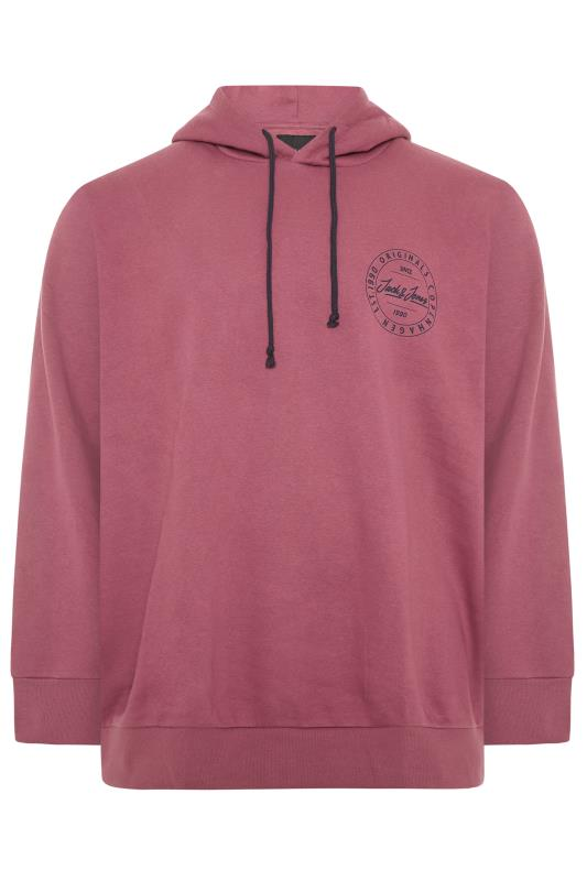 Men's  JACK & JONES Burgundy Move Logo Hoodie