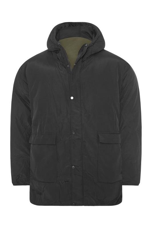 Men's  RELIGION Black & Khaki Reversible Parka Coat