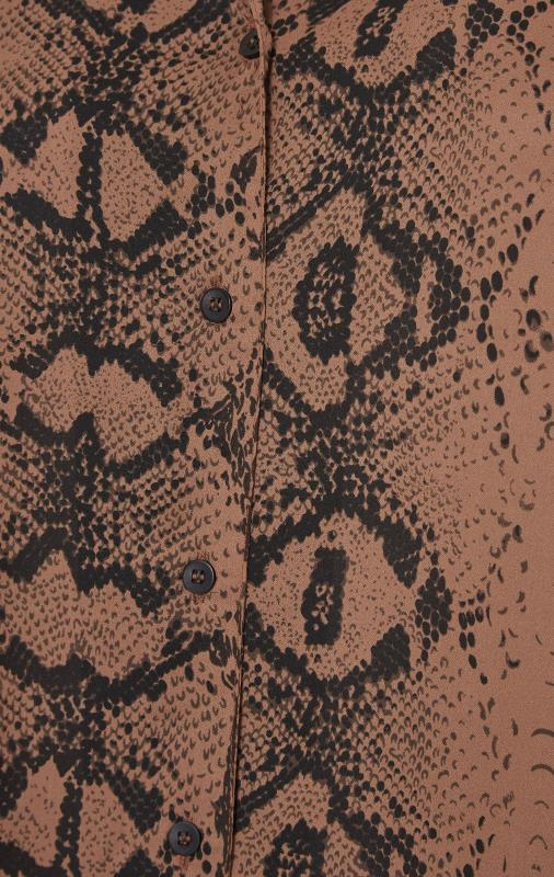 YOURS LONDON Brown Snake Print Shirt_S.jpg