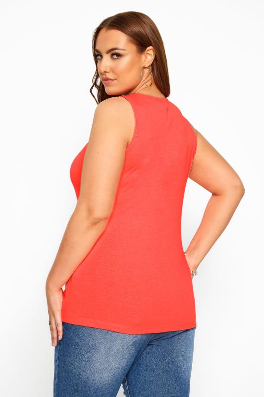 Neon Coral Vest Top