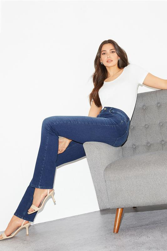 Tall  Indigo Blue Ultra Stretch Bootcut Jeans