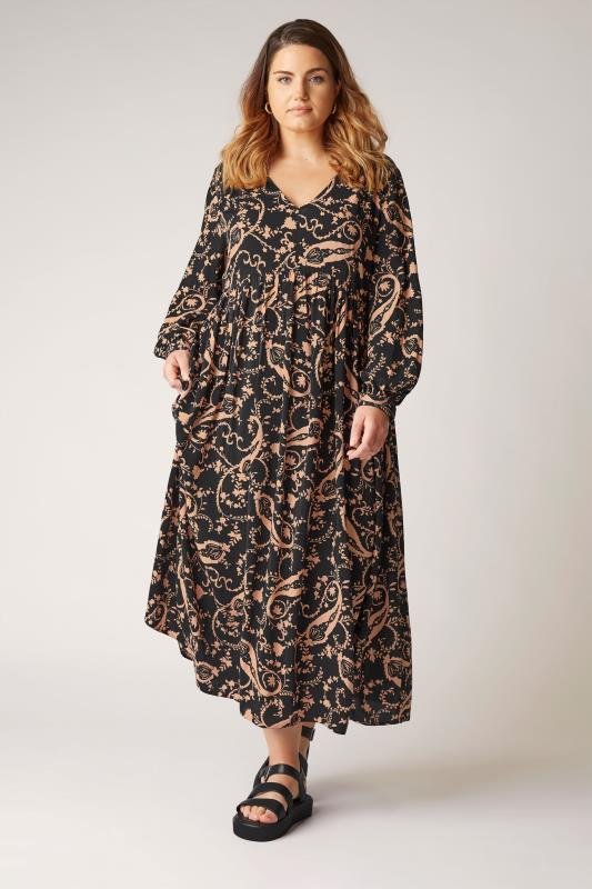THE LIMITED EDIT Black Paisley Boho Maxi Dress_B.jpg
