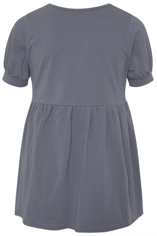 LIMITED COLLECTION Grey Cotton Smock Top